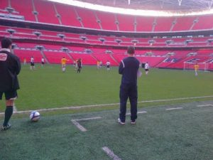 Lucky enough to coach at the iconic Wembley Stadium twice for the Booby Moore Charity