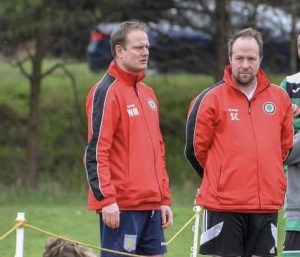 Will (L) coaching for AJFC