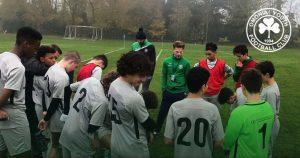 David (c) coaching his Omonia Youth side